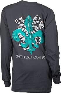 SC Classic Cotton Fleur on Long Sleeve Classic Fit Adult T-Shirt - Charcoal