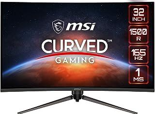 MSI Optix AG321CR Curved Gaming Monitor - 31.5 Inch, 16:9 Full HD (1920 x 1080), VA, 165Hz, 1ms, 1500R, FreeSync Premium, ...