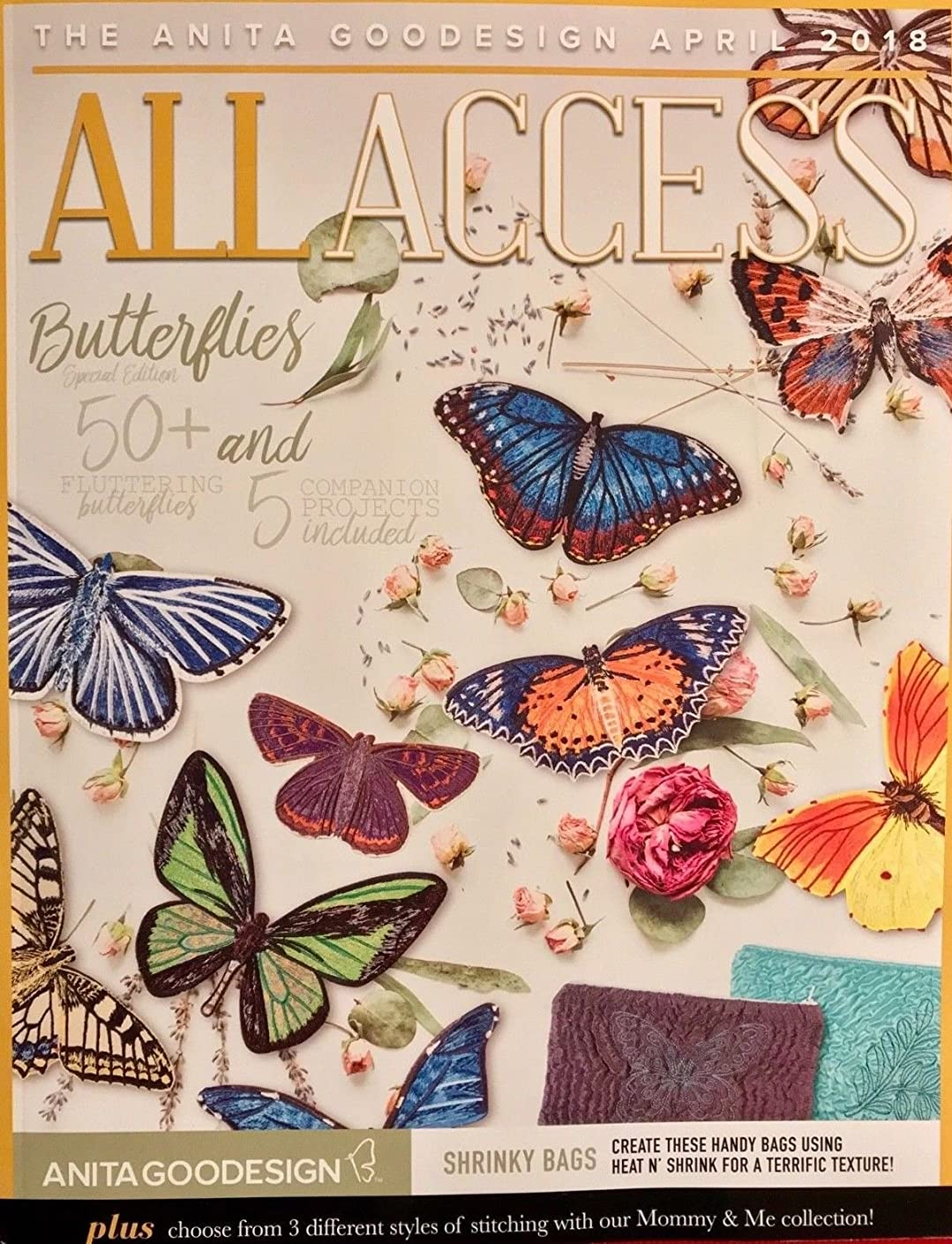 Anita Goodesign All Access VIP Club April 2018 Embroidery Machine Designs CD & Book