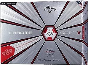 Callaway(キャロウェイ) ゴルフボール CHROME SOFT X 2018年モデル 1ダース(12個入り)