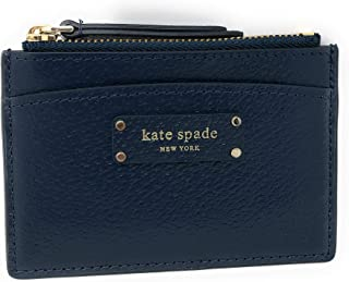 Kate Spade Small Zip Card Holder Tuscansun Wallet Coin Purse Business Credit Card Holder Case Petro Blue