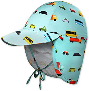 Brook + Bay Kids Sun Hat for Boys & Girls - Toddler Beach Hats with UV Protection - UPF 50 Infant/Baby Flap Swim Cap - Gre...