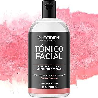 Tónico Facial con Agua de Rosas + Vitamina E + Niacinamida