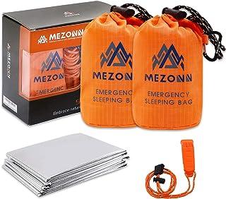 Mezonn Emergency Sleeping Bag Survival Bivy Sack Use as Emergency Blanket Lightweight Survival Gear for Outdoor Hiking Cam...