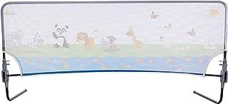 Agubugu Baby AGU-105-150 Hayvan Desenli Katlanabilir Yatak Bariyeri 150cm, Beyaz