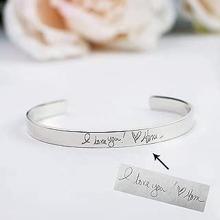handwriting engraved bracelet