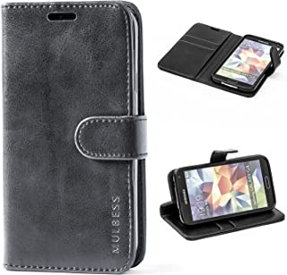 Mulbess Cover per Samsung Galaxy S5, Custodia Pelle con Magnetica per Samsung Galaxy S5 / S5 Neo [Vinatge Case], Nero