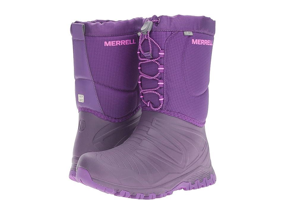Merrell Kids Snow Quest Lite Waterproof (Big Kid) (Berry WPF Synthetic) Girls Shoes