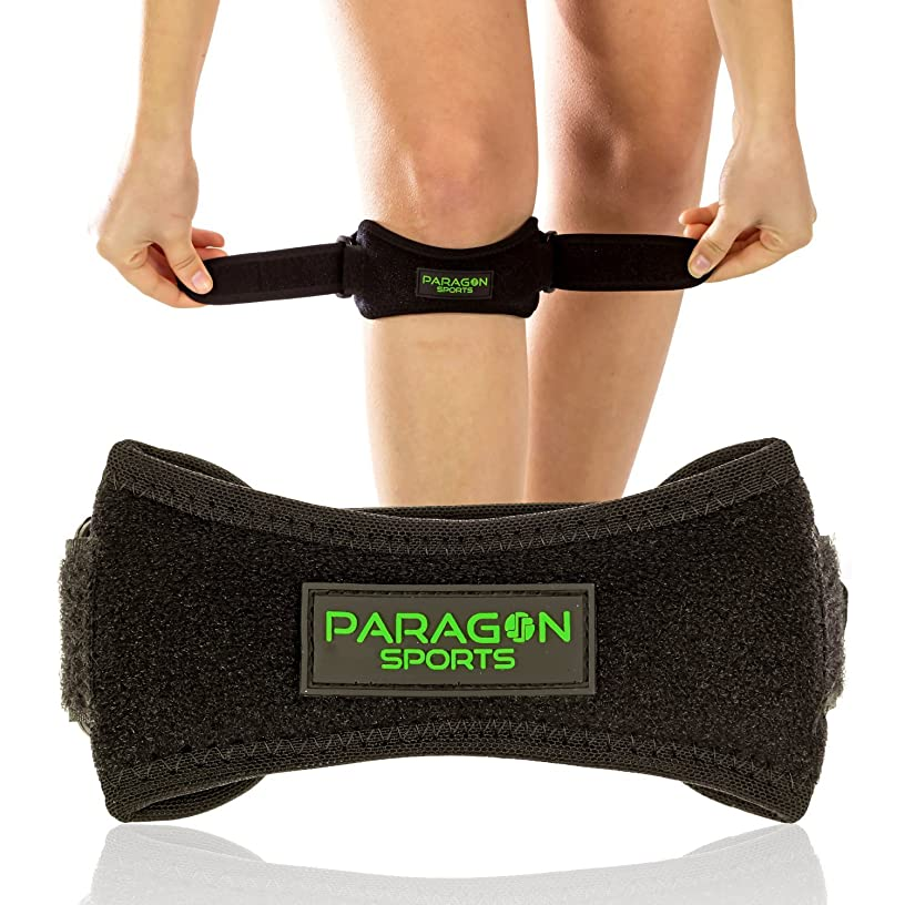 Patella Knee Strap for Running, Fitness, Stairs Climbing/Adjustable Patellar Tendon Support Band for Basketball, Athletics/Pain Relief Brace for Jumper's Knee and Chondromalacia