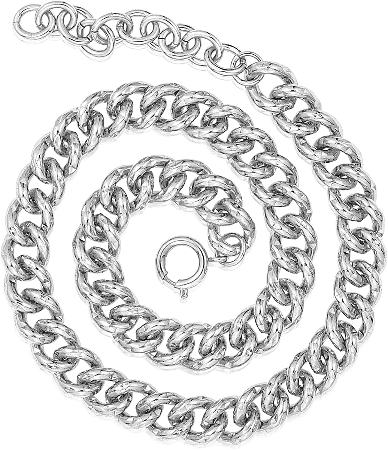 JEEMEER trend rank Chunky Diamond Cut Shining Popular products Cuban for Necklace Chain Link
