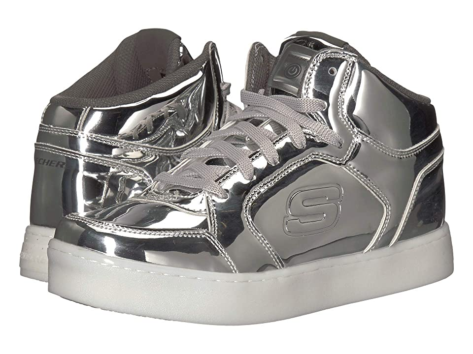 SKECHERS KIDS Energy Lights Eliptic (Big Kid) (Silver) Boy