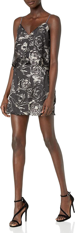 Ali & Jay Women's Inoubliable Floral Print Metallic Popover Short Dress