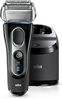 Braun Electric Razor for Men, Series 5 5195cc Electric Shaver With Precision Trimmer, Rechargeable, Wet & Dry Foil Shaver, Clean & Charge Station & Travel Case
