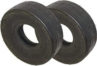 4.10/3.50-4 Kenda K404 Smooth/Slick Tread 4 Ply, Tube Type, 50 PSI, NHS Lawn Mower/Cart Tire (2)