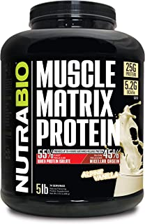 Sponsored Ad - NutraBio Muscle Matrix - Whey Protein Blend (Vanilla, 5 Pounds)