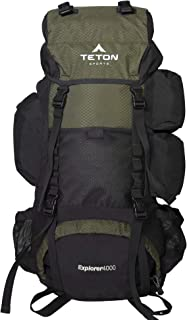 TETON Sports Explorer 4000 Internal Frame Backpack; Great Backpacking Gear; Backpack for Men and Women; Hiking Backpacks for Camping and Hunting
