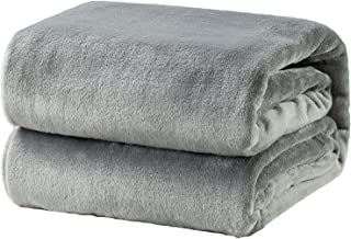 Bedsure Fleece Blanket Queen Size Grey Lightweight Super Soft Cozy Luxury Bed Blanket Microfiber