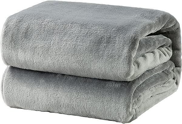 Bedsure Fleece Blanket Queen Size Grey Lightweight Super Soft Cozy Luxury Bed Blanket Microfiber