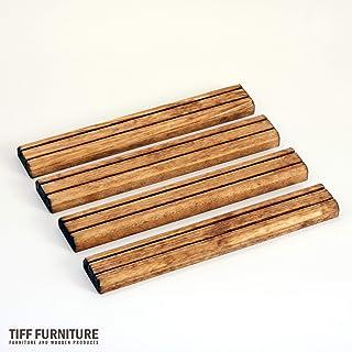 TIFF カードスタンド ボードゲーム カードゲーム 25cm 4本セット ミディアムブラウン 国産 ブランド材 越後杉製