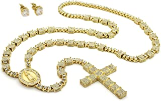 L & L Nation 14K Gold Plated Guadalupe Cross 36