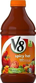 V8 Original Spicy Hot 100% Vegetable Juice, 46oz. Bottle (Pack of 6)