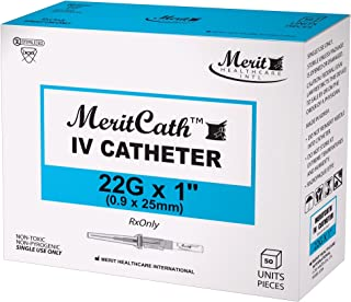 IV Catheter 22G x 1, 1 Box, 50 Units/Box