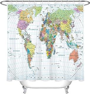 Tela decorativa mapa del mundo decoraciones de beige manteles cortinas Precio = 0,5m