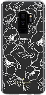 Kate Spade New York Phone Case | for Samsung Galaxy S9 Plus | Protective Clear Crystal Phone Cases with Slim Design and Drop Protection - Dreamy Floral White with Gems
