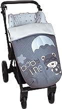 Babyline 2000528r - Saco de Bebé Universal Silla con Cubre Pies Polar. Dsmontable con Cremalleras. Lavable a máquina. (Paracaidista), unisex