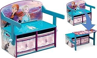 Delta Children Disney Kids Frozen II Convertible Activity Bench, Frozen, Piece of 1