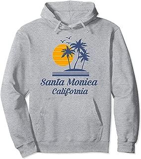 Santa Monica California Hoodie CA Surf Tourist Souvenir Gift