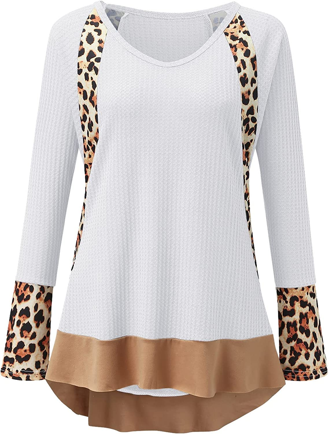Womens Sweatshirt Oversized Casual Long Sleeve Lightweight Trendy Loose Leopard Graphic Pullover Top Shirt Tee