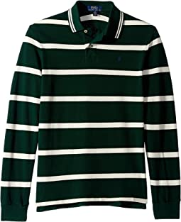 Striped Cotton Mesh Polo (Big Kids)