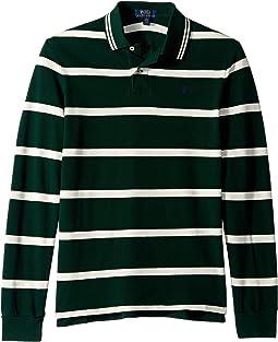 Striped Cotton Mesh Polo (Big Kids)