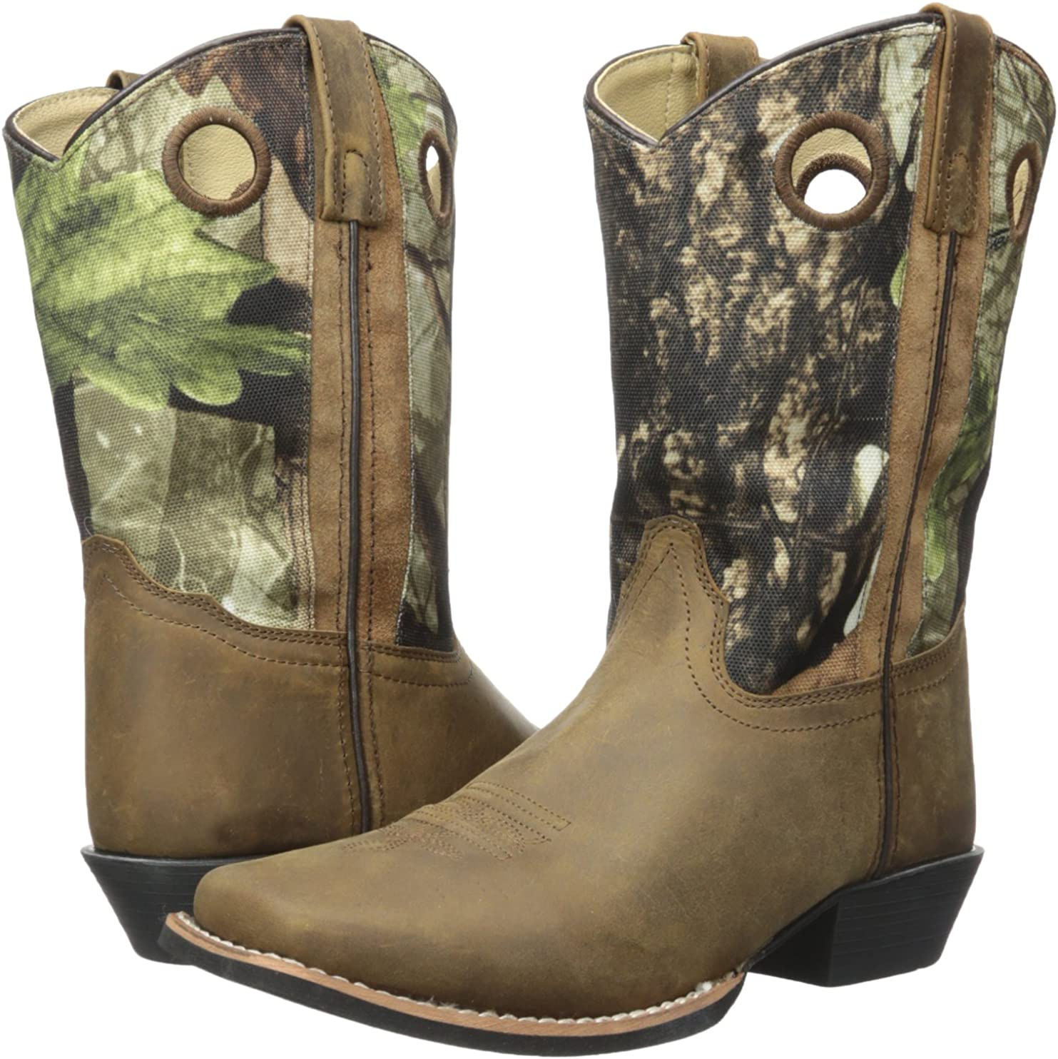 Smoky Mountain Boots | Mesa Series | Youth Western Boot | Square Toe | Quality Leather | Rubber Sole & Western Heel | Man-Made Lining