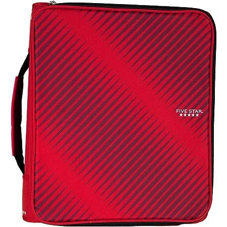 Red//Black Five Star Zipper Binder 2 530 Sheet Capacity 3-1//2 X 12 X 12-3//4 2017007