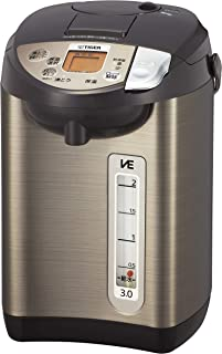 タイガー 電気ポット 3L ブラウン 蒸気レス 節電 VE 保温 2段階の給湯量切替え機能つき とく子さん PIW-A300T
