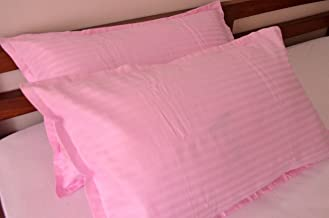 """Trance Home Linen Cotton Pillow Covers 25"""" X 17"""", Light Pink, Pack of 2"""