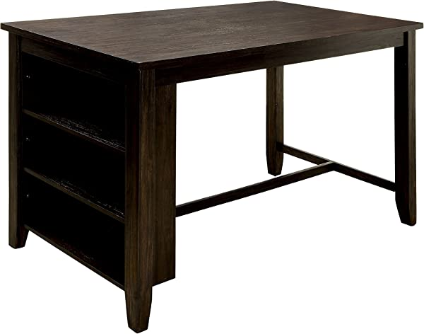 HOMES Inside Out IDF 3153PT Nolion Dining Table Dark Walnut