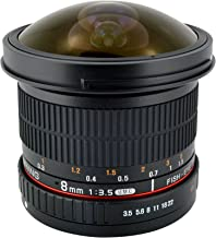 Samyang SYHD8M-C 8mm f/3.5 HD Lens with Removable Hood for Canon