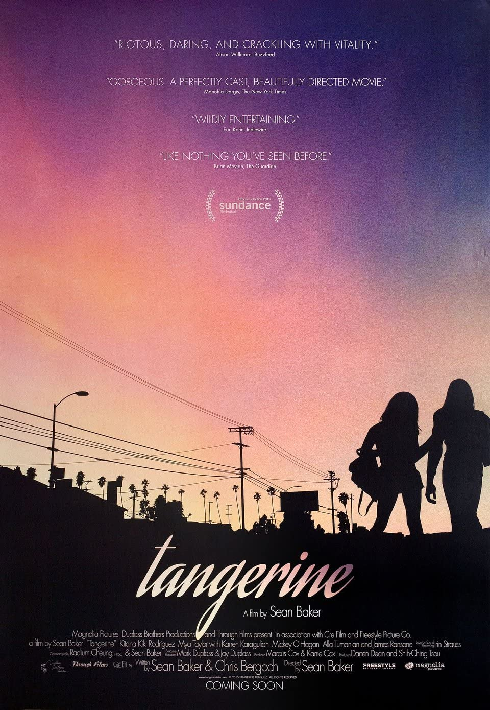 Tangerine 2015 U.S. One Sheet Poster at Amazon's Entertainment Collectibles  Store