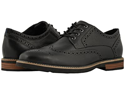 Nunn Bush Oakdale Wingtip Oxford with KORE Walking Comfort Technology (Black Tumbled) Men
