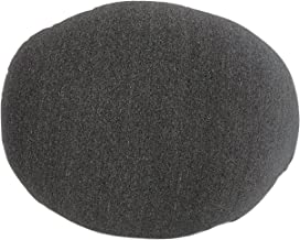 Tache Micro Bead Solid Grey Realistic Stone Pillow - Squishy Realistic Novelty Pebble Rock Nature Décor - Round Cushion 12x16""