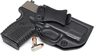 """Concealment Express IWB KYDEX Holster: fits Springfield XD-S 3.3"""" (Incl Mod.2) 9MM/40SW/45ACP (CF BLK, RH) - Inside Waistband Concealed Carry - Adj. Cant/Retention - US Made"""