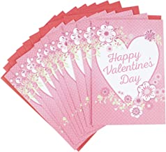 Hallmark Pack of Valentine's Day Cards, Hearts and Flowers (10 Cards with Envelopes)