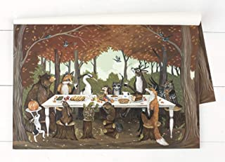Kitchen Papers Thanksgiving Friends Disposable Placemats - 30 Sheets/Pack Made in USA