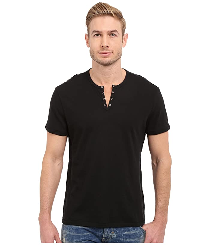 John Varvatos Star U S A Short Sleeve Eylelet Crew Shirt