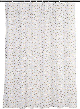 AmazonBasics Gold Foil Polka Dot Shower Curtain