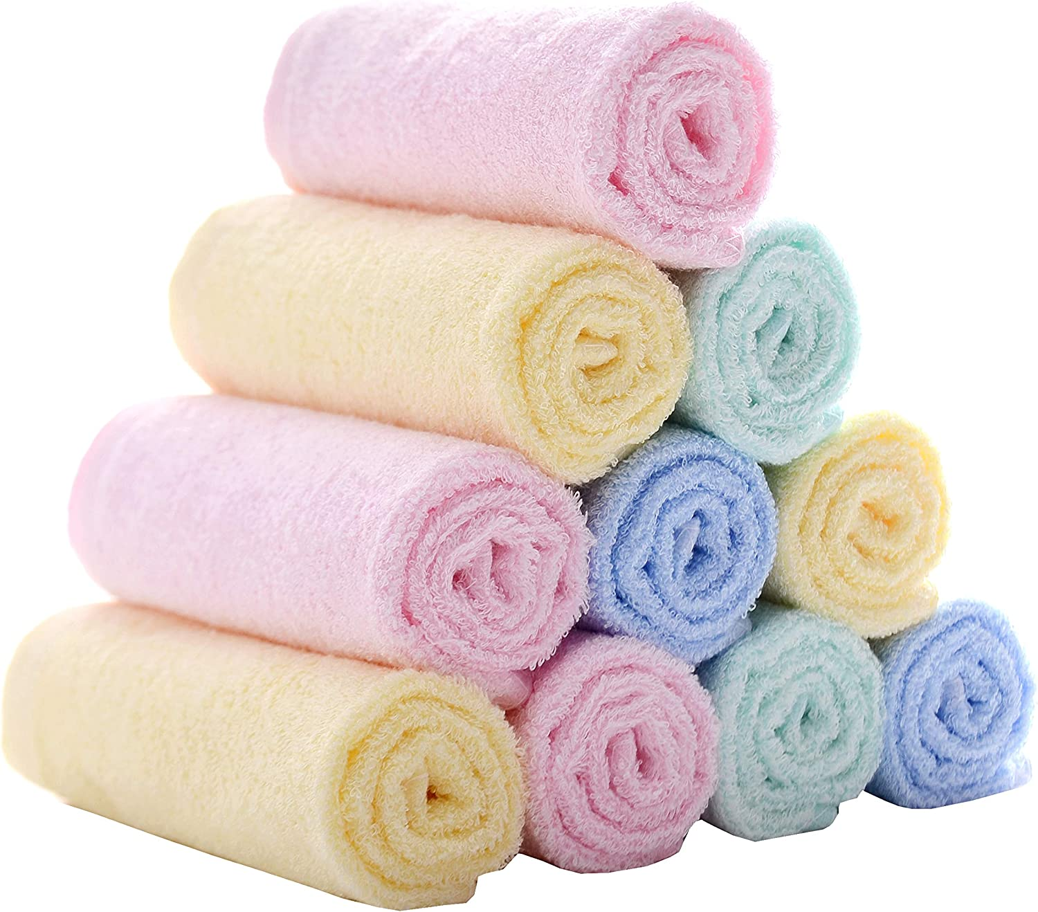 MUKIN Baby Bamboo Washcloths Face Extra for In a popularity - Large-scale sale Towels Soft