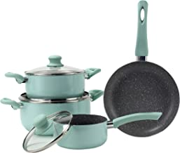 Alberto Cookware Set,7 Pc,Green
